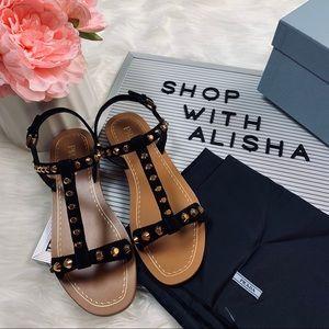 79922dd4c8e Prada Shoes - Brand New Prada Black Saffiano Leather Sandals